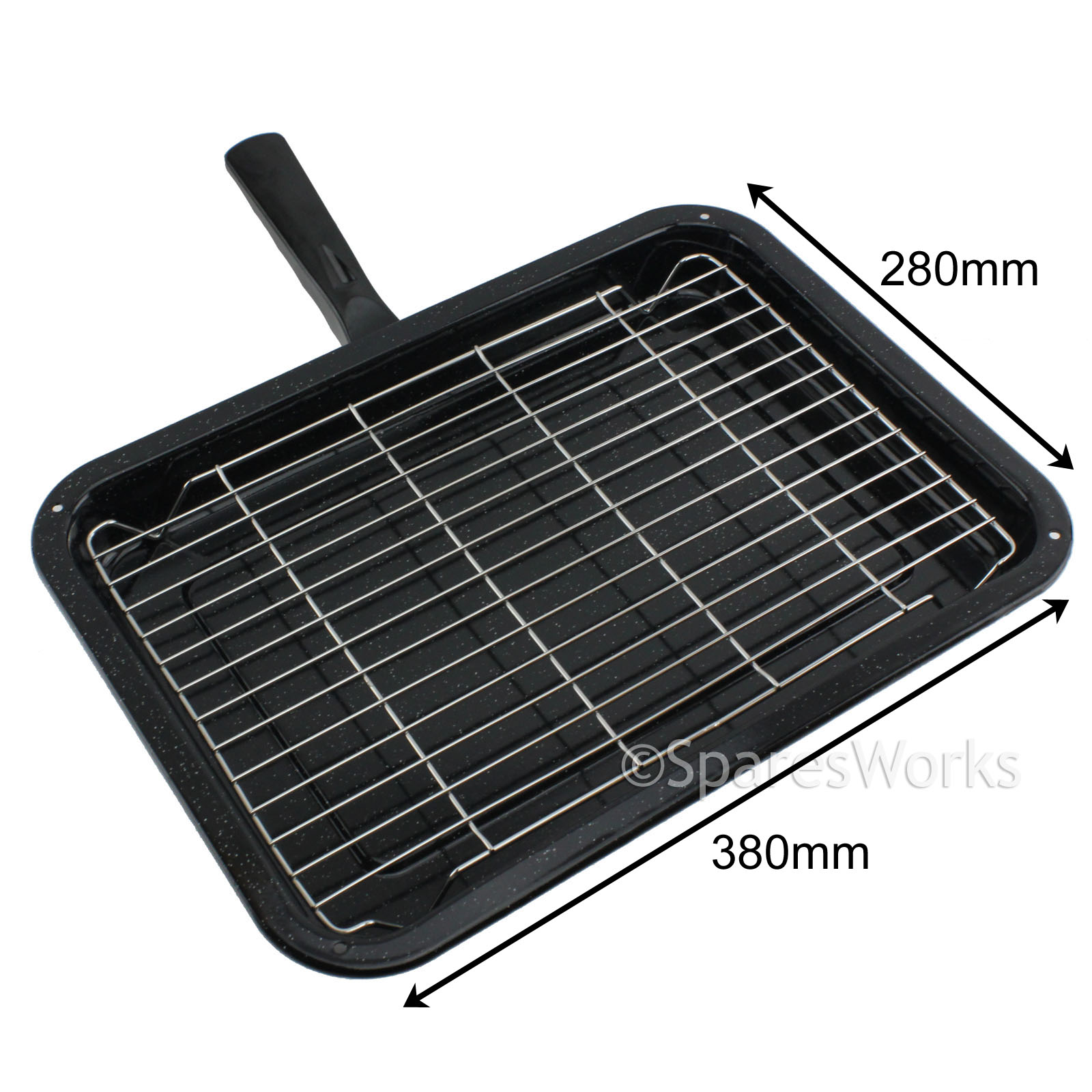 Universal Small Oven Cooker Grill Pan Tray With Handle