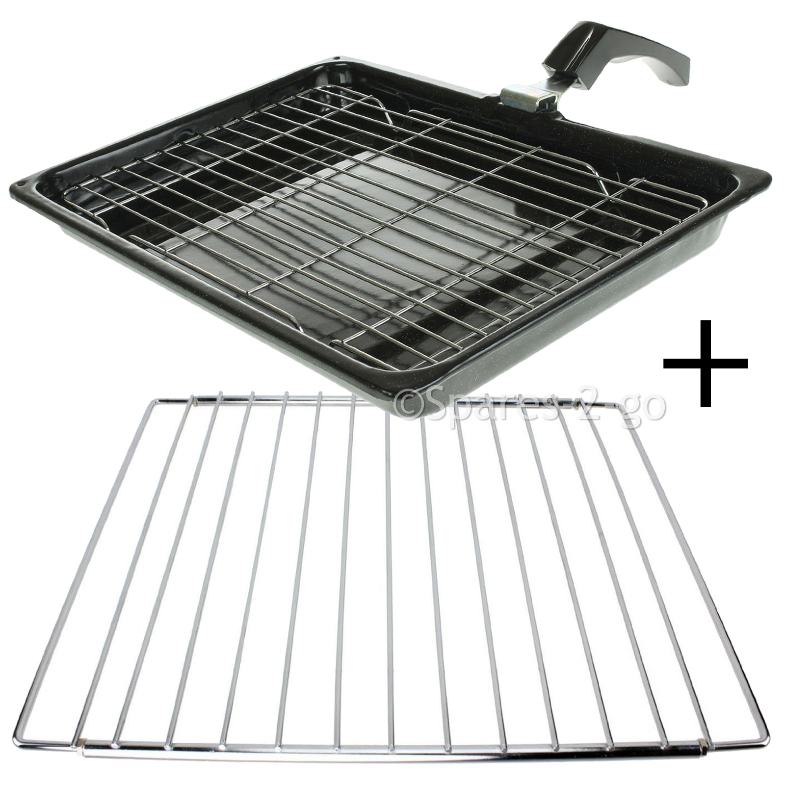 Grill Pan + Handle + Rack + Adjustable Extendable Shelf for LOGIK ...