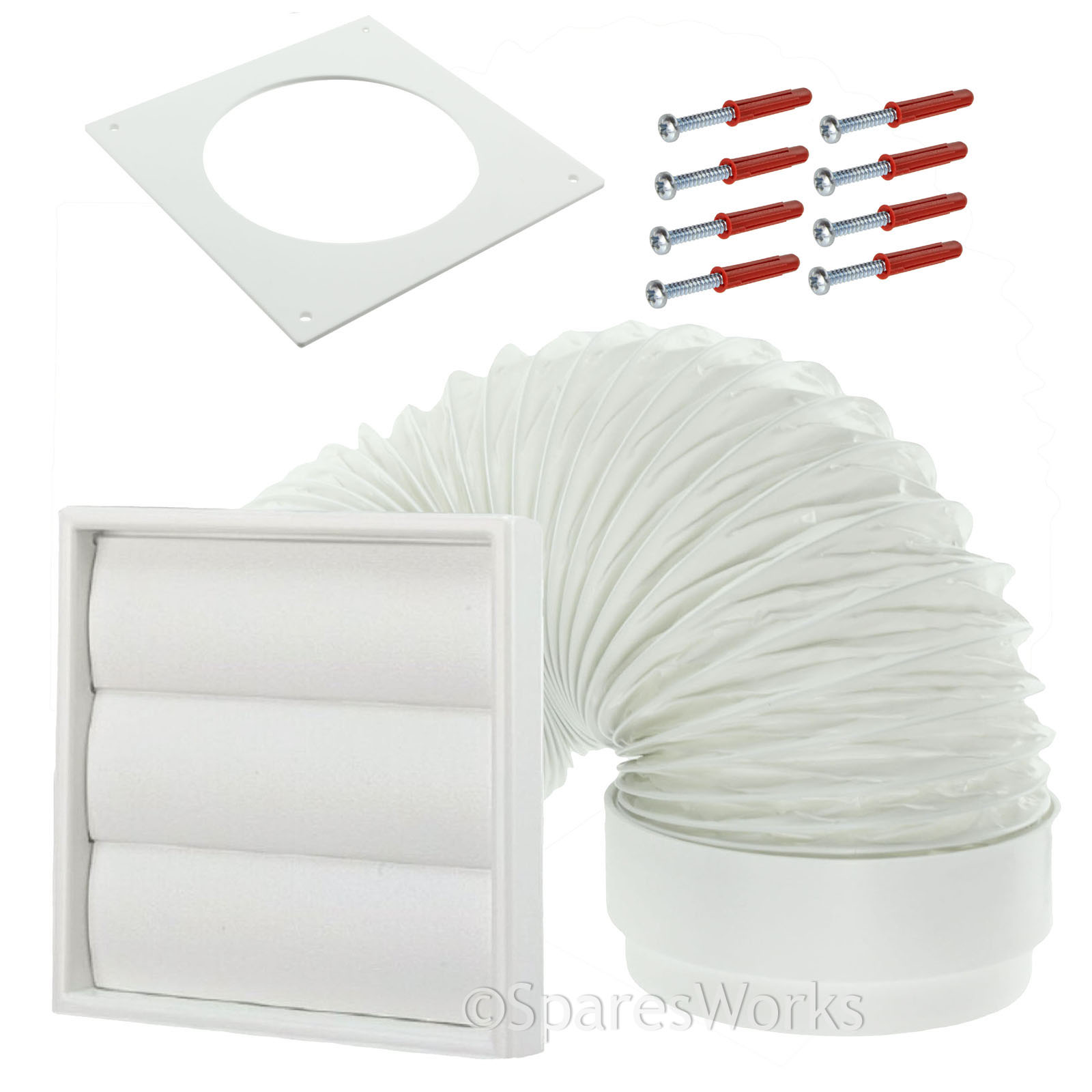Tumble Dryer Exhaust Pipe ~ Venting kit for hotpoint tumble dryer external vent wall